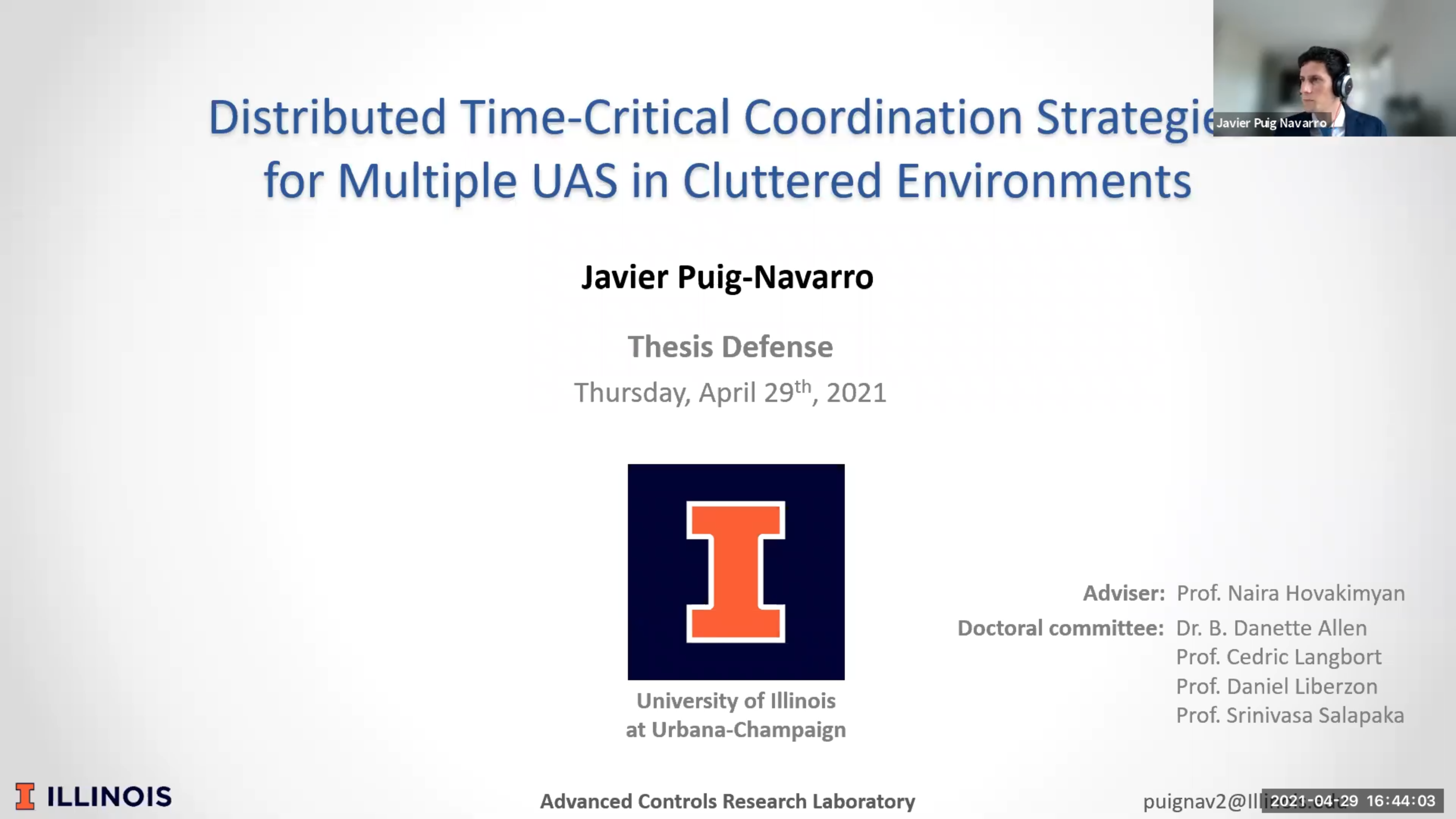 Javier Puig-Navarro defended his thesis successfully!
